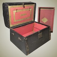Jenny Lind Style Trunk - Antique - Ideal for Izannah Walker Trousseau