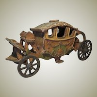 Miniature Royal Carriage for Doll Display - 1930's