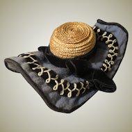 French Fashion Antique Bonnet - A Deux Bonjours
