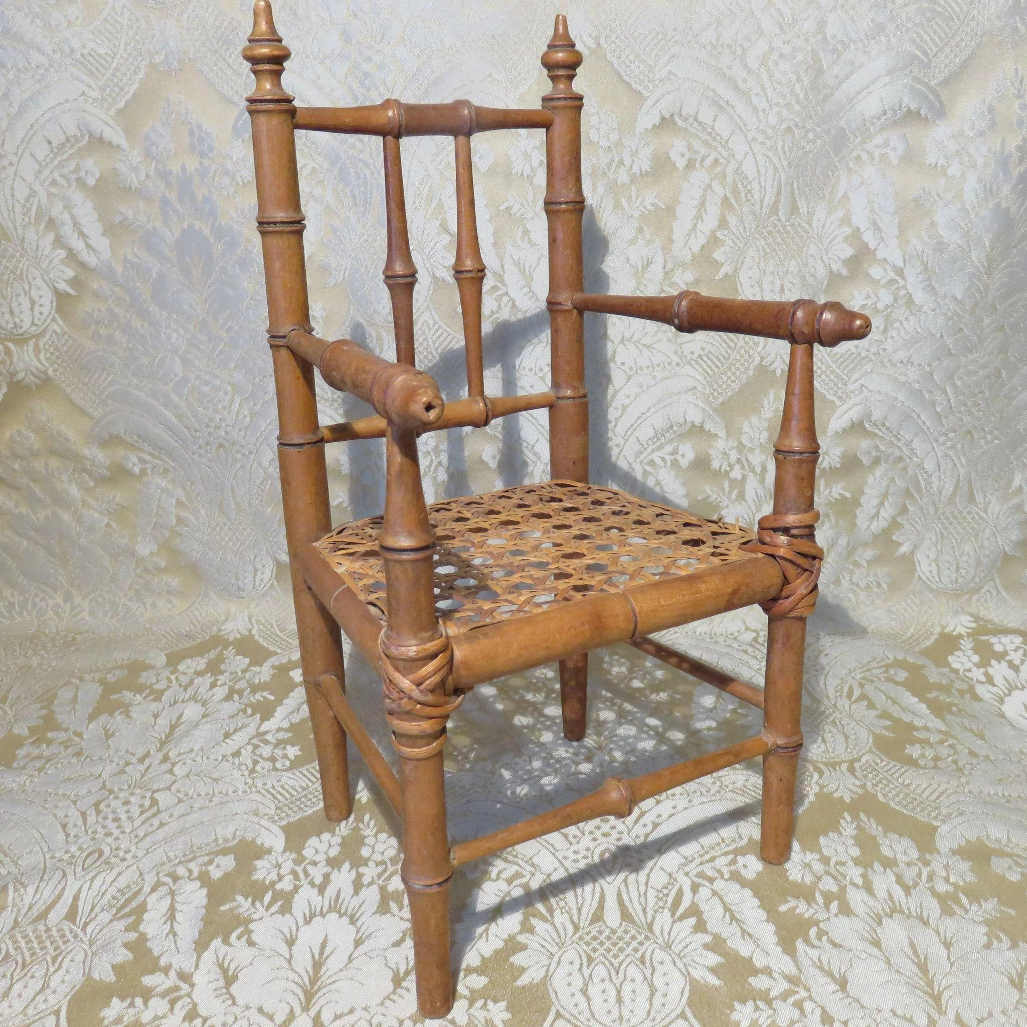 chair highback vintage bamboo