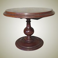 Round Tilt-Top Table for Doll Display - Antique