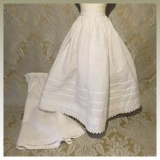 Pair of Antique Petticoats for Larger French Fashion Doll