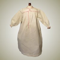 Antique Cotton Nightgown for Larger French Fashion Doll