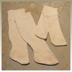 Two Pair of Antique Hand Made Doll Stockings