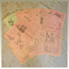 "Set of Original Patterns from 1894 ""La Poupee Modele"""