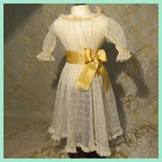 Sheer Lace Net Dress - Antique Circa 1900