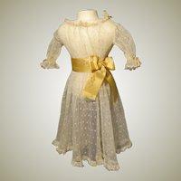 Sheer Lace Net Dress - Antique Circa 1900
