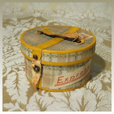Miniature Hatbox for Doll Display