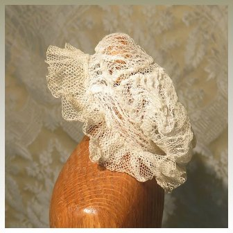 Antique Tulle and Lace Mob Cap for French Fashion