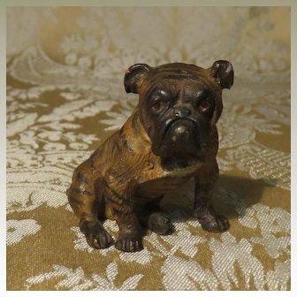 Miniature Vienna Bronze Bulldog - for Dollhouse