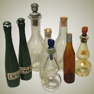 Collection of Antique Miniature Bottles for Doll House or Display