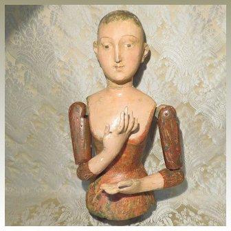 Enigmatic Wood Santos Figure - Large
