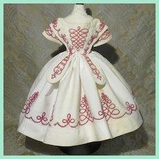 Classic Mode Enfantine Soutache Dress - Antique - Huret