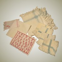 Mixed Lot of Antique Doll Linens