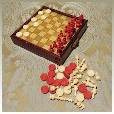 Antique Miniature Multi-Game Boxed Set for Doll Display