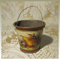 Sweet Litho Tin Pail - Antique Miniature