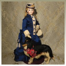 Incredible Tri-Color Collie for French Fashion Display