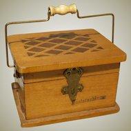 "Miniature Wood ""Chauffrette"" for French Fashion - Fontainebleau"