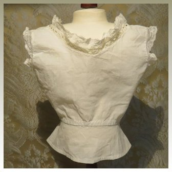 Antique Fitted Chemisette for Larger Lady Doll