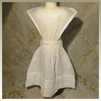 Antique Pinafore-style Apron for Larger Lady Doll