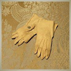 Cream Kid Bebe Gloves