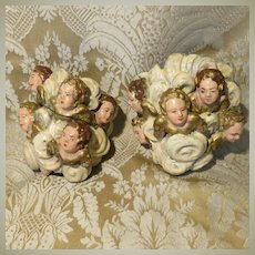 Pair of Neapolitan Creche Putti/Angel Head Groupings - Antique