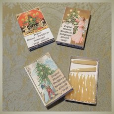 Vintage Miniature Hand Dipped Candles - Packs of 10 - For Dollhouse Lighting