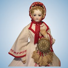 Fanciful Crocheted Purse for French Fashion Doll