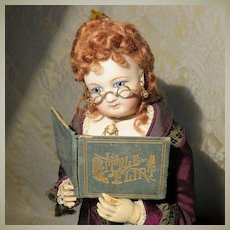"""Antique Miniature Book: """"The Little Flirt"""" for Your French Fashion Doll"""