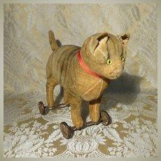 Splendid Steiff Cat on Wheels - Early