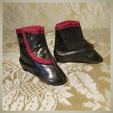Excellent Vintage Artisan-Made Boots for French Fashion Doll