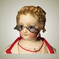 French Fashion Doll Eyeglasses With Blue Lenses