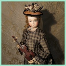 Genuine Antique Miniature Violin for French Fashion