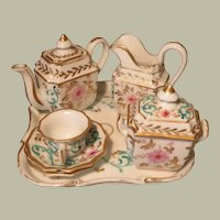 Pretty Antique Tea Set - Late 1800s - For Larger Doll