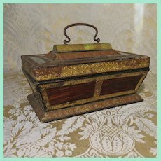 c. 1820s Fancy Eglomise Box for Display with Early Dolls