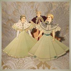 Three Dimensional Paper Dolls - Circa 1900