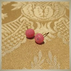Beautiful Larger Authentic Jumeau Pink Earrings