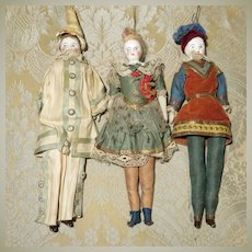 Set of 3 Whimsical Theatre Dolls - All Original
