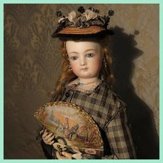 Extraordinary Brise Fan - Antique Miniature - for French Fashion