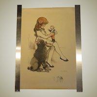 POULBOT Antique Print - 1917 - Lithograph