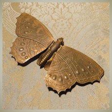 Fabulous Avery Redditch Brass Butterfly Needle Case