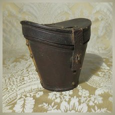 Fancy Miniature Antique Leather Hatbox for French Fashion