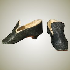 """French Fashion Black Heeled Shoes for 17 - 18"""" Doll"""