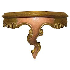 Vintage Florentine Miniature Console Table for French Fashion
