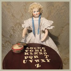 Wonderful Miniature Antique Alphabet Toy