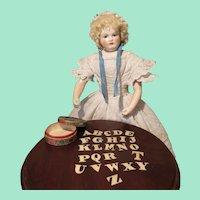 Wonderful Miniature Antique Alphabet Toy