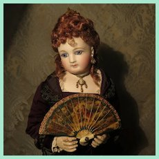 Outstanding Authentic Miniature Brise Fan for French Fashion