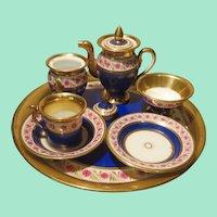 Early Neoclassical Miniature Tea Set - Empire Period