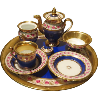 Early Neoclassical Miniature Tea Set - Empire Period