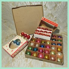"""Large Group of Vintage 1"""" Christmas Ornaments"""